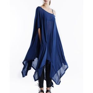 "Bare Anthology Tops - ""Ambush"" Asymmetrical Poncho Tunic Top"