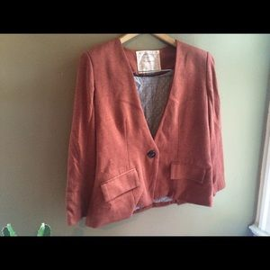 Cute Anthropologie cotton blazer