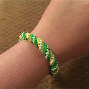 Plastic woven bracelet from Noir Jewelry
