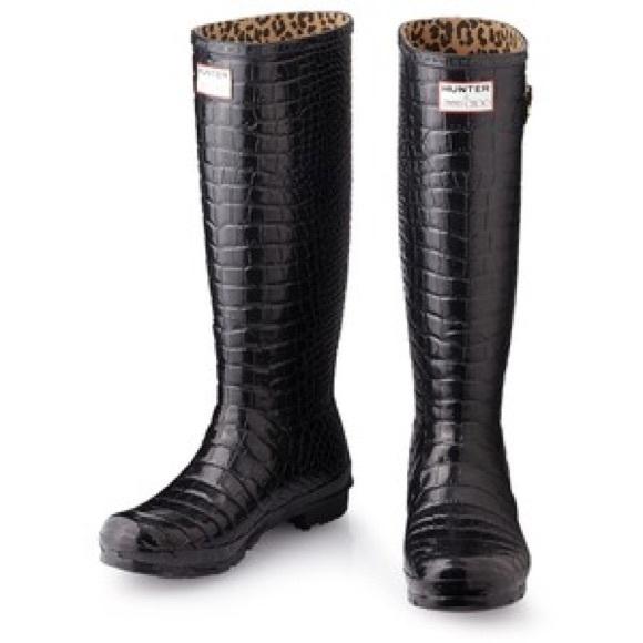 b2f5cd52dc8 Hunter Shoes | Jimmy Choo Crocodile Wellies Rare | Poshmark