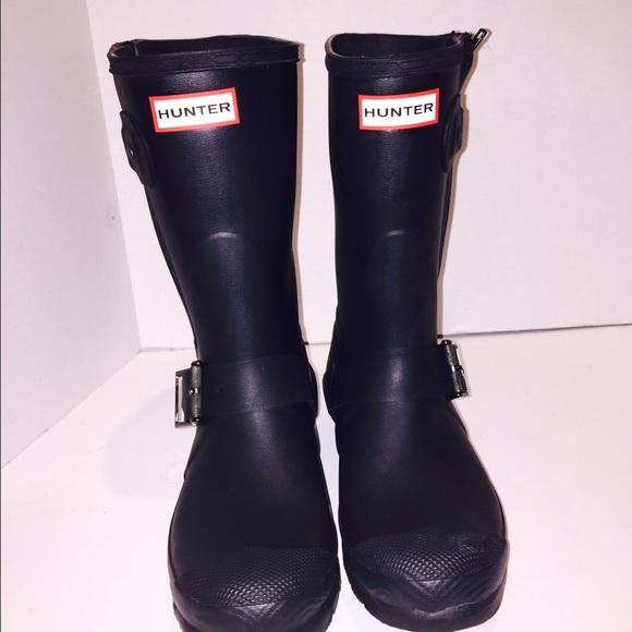 bb14ab0a6958 Hunter Shoes - Hunter black short biker boots sz 8 women s mens7