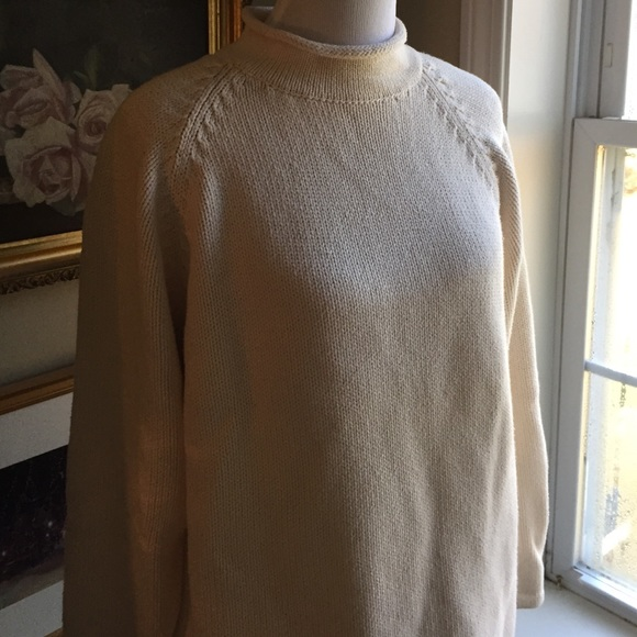 Vintage Jcrew Cotton Roll Neck Sweater