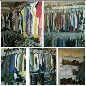 Closet update! I cleaned out my closet again!