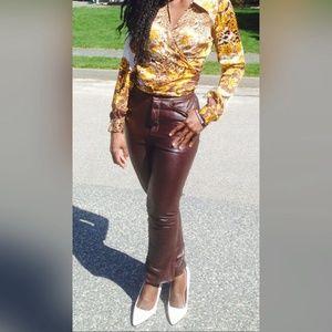 Ellen Tracy Pants - 🎉High waist leather pants🎉🔥🔥🔥