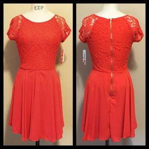 Gianni Bini Dresses & Skirts - 🚨FINAL PRICE 🚨Coral Lace  Dress