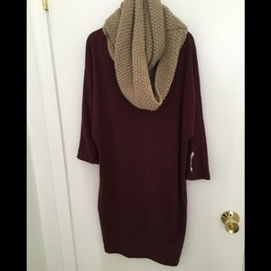 Burgundy three quarter dress!