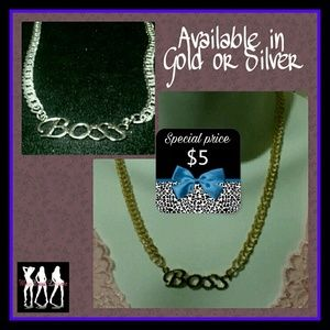 Be a Boss w/ this Gold Boss Necklace