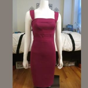 Robert Rodriguez maroon sheath dress sz 2