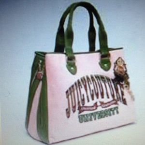 ✨Juicy Couture University Velour leather  Bag👜