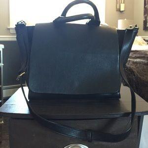 Zara black satchel handbag