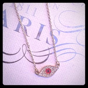 3/$16 ‼️Evil Eye Pendant Pave Necklace Red New