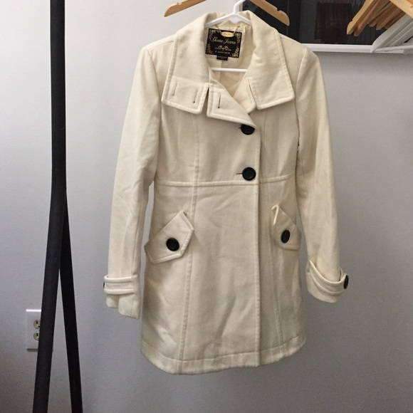 80% off Guess Jackets & Blazers - Guess Cream Pea Coat from Char's ...