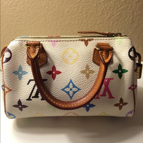 Louis Vuitton Handbags - Authentic Louis Vuitton multicolor mini speedy bag e1f61f0d68e88