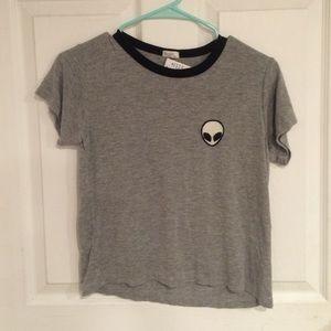 Brandy Melville/ John galt alien gray Tshirt