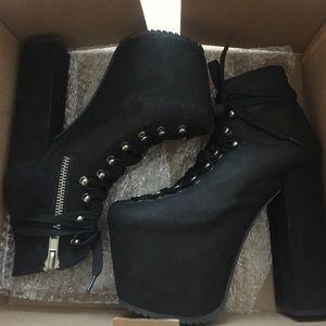 a4dde73145ce UNIF Shoes | Black Hellbounds | Poshmark
