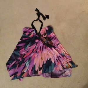 Colorful halter top