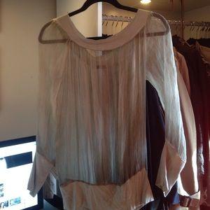 NOLA Tops - Beautiful sheer silk shirt from NOLA Italy