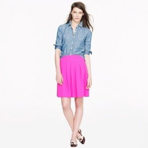 J.Crew Pleated Crepe Skirt