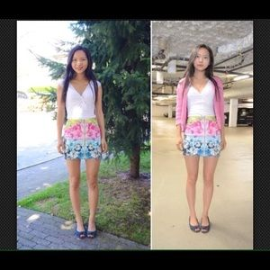 New H&M Colorful Full Zipper Mini Jean Skirt 6