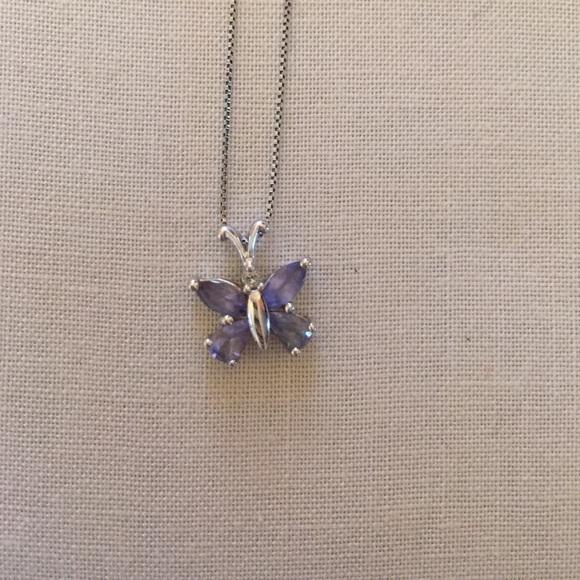 Jewelry - Butterfly pendant Tanzanite/diamond