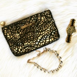 Ivanka Trump Black & Gold Clutch!