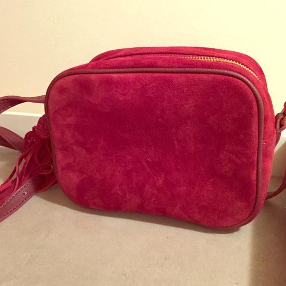 f32e616497 Genuine suede Ann Taylor camera bag. NWT!
