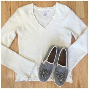 Aeropostale Sweaters - AEROPOSTALE   Cream Slim Fit Sweater