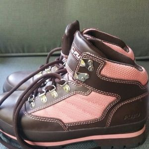 timberland brown and pink outdoor shoes from s