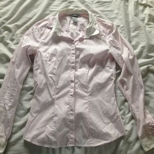H&M button down pink and white