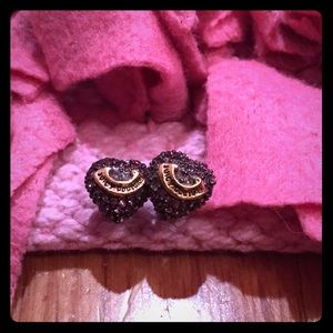 Juicy couture Purple Heart stud earrings