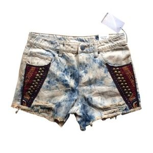BDG high-waisted denim shorts
