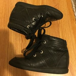 Isabel marant bobby black wedge sneakers 37