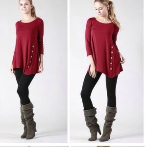 •side button tunic•