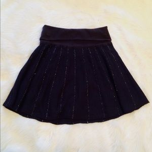Free People Navy Skater Skirt
