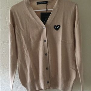 Sweaters - ALTANY WALDORF heart embellished cardigan  sweater