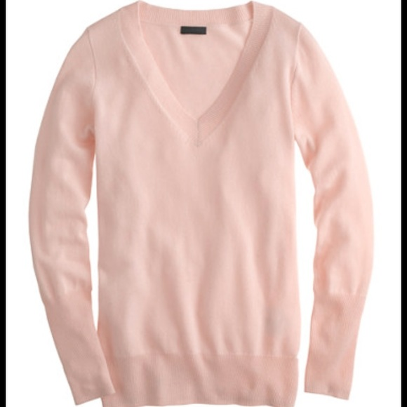 80% off J. Crew Sweaters - J. Crew Cashmere Light Pink V-Neck ...
