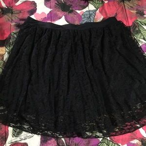 Wet Seal Plus Dresses & Skirts - Wet Seal Plus Black Lace Skater Skirt