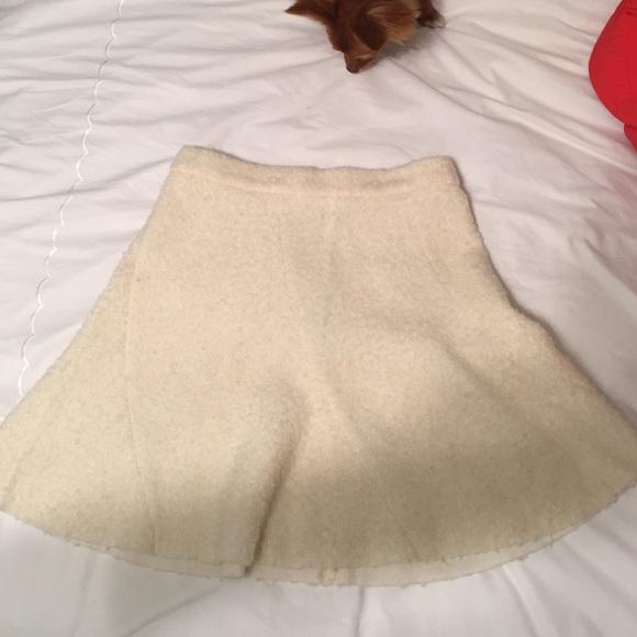 45% off Zara Dresses & Skirts - Winter white/cream knit skirt from ...