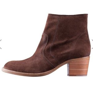 APC Suede Zip Up Ankle Boots medium Brown sz 38