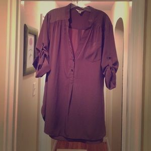 Tops - Silky long shirt by Zoa