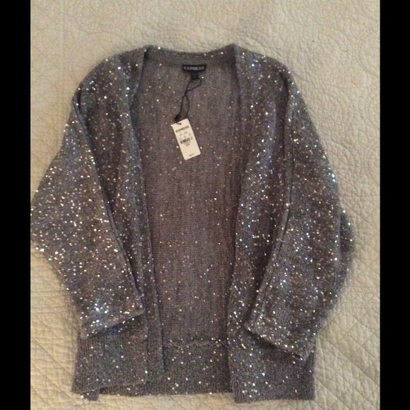 51% off Express Sweaters - Express sequin cardigan from Debra's ...