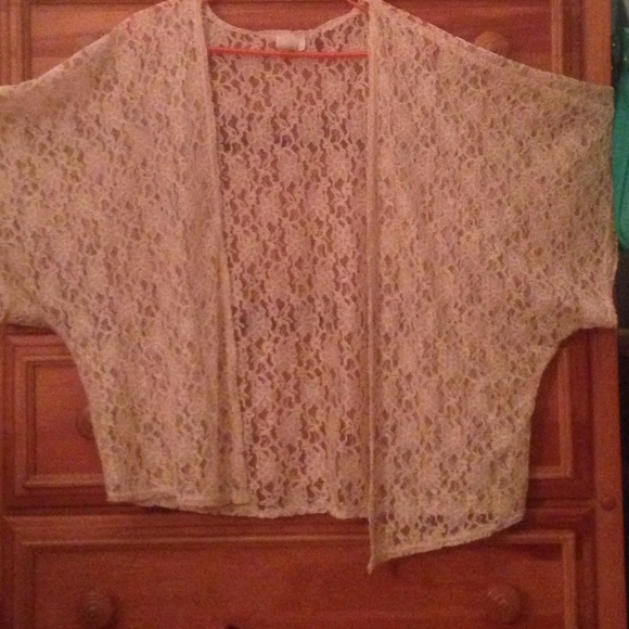 49% off Francesca's Collections Sweaters - Off white lace cardigan ...