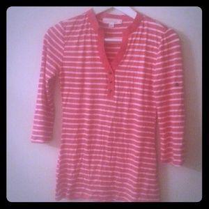Stripe pink blouse