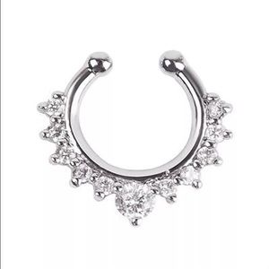 Nose septum ring clip on