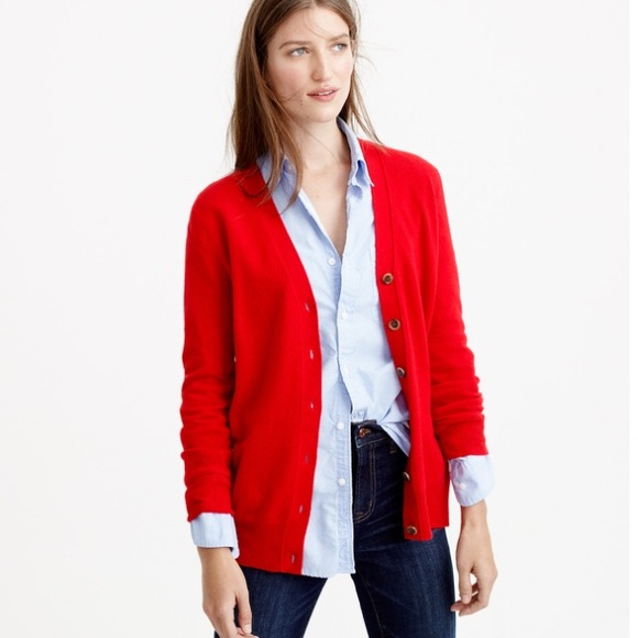 69% off J. Crew Sweaters - FLASH SALE: V-Neck Cardigan Merino Wool ...