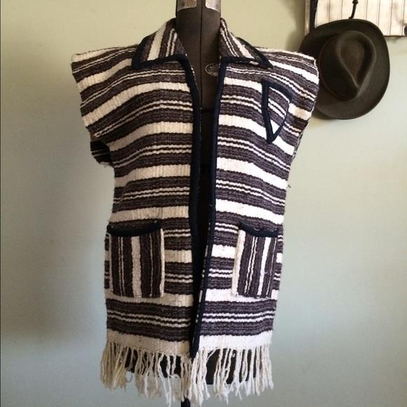 Mexican Blanket Hippie Vest