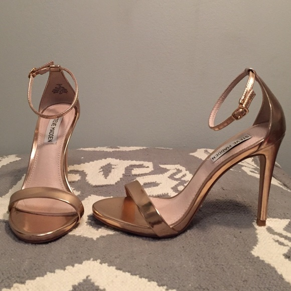 e8e753d94054 Stecy Ankle Strap Heels in Rose Gold. M 564950e06d64bcf953018c44. Other  Shoes you may like. NWT Steve Madden ...