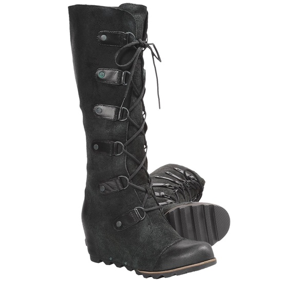 5393d3314db SOREL Joan of Arctic Wedge 6 Knee Lace SUEDE Boot.  M 56495275bcd4a77e8a007ee2