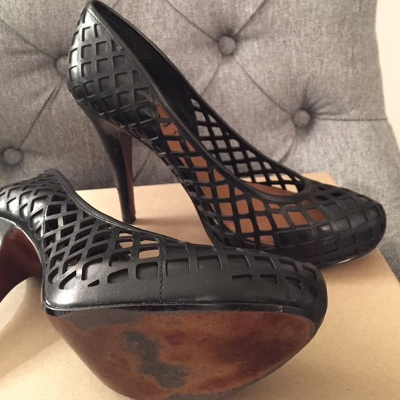 No. 704 b. Shoes - Cut out platform heels 👠 Extremely Cute!