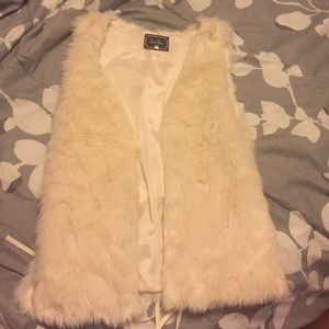 Off White Fur Vest